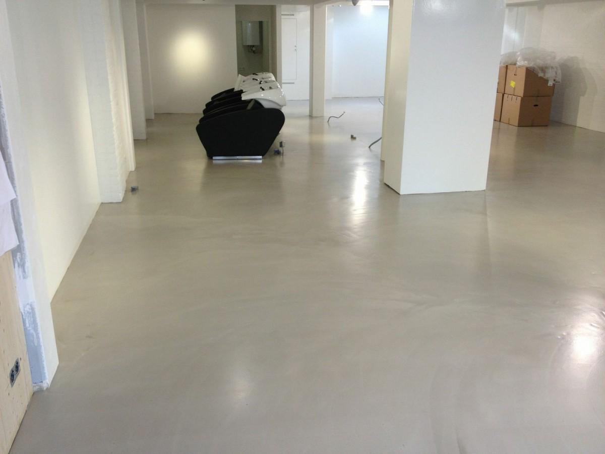 Cement Gebonden Gietvloer Trendlounge In Laren Best