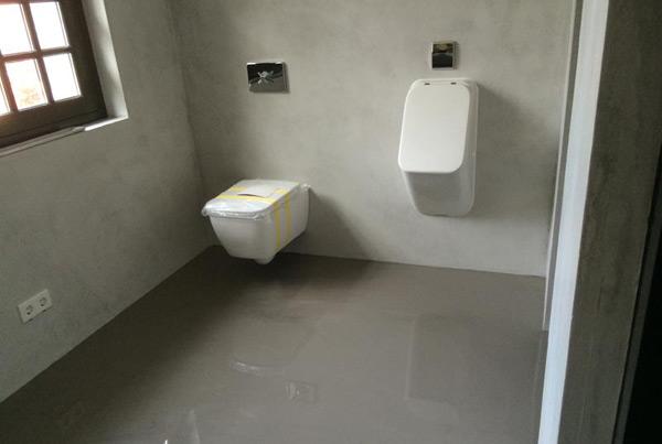 Microcement badkamervloer best vloerrenovatie - Badkamer vloer ...