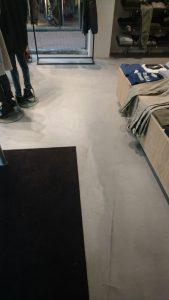 Leef-beton vloer winkelpand Open32 Zoetemeer bestvloerrenovatie Best Building Service B.V.