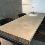 Microcement meubelen en wanden Best Building Service B.V. showroom