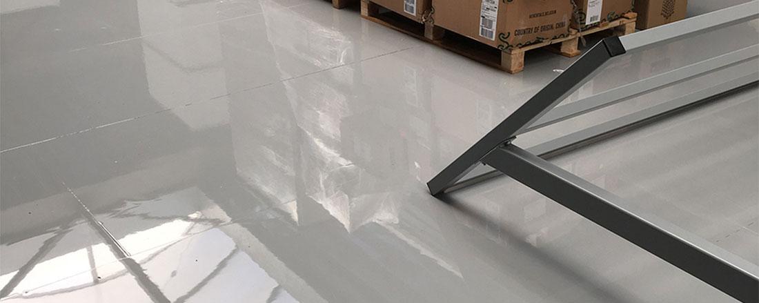 Industrievloer met epoxy coating in Den Haag