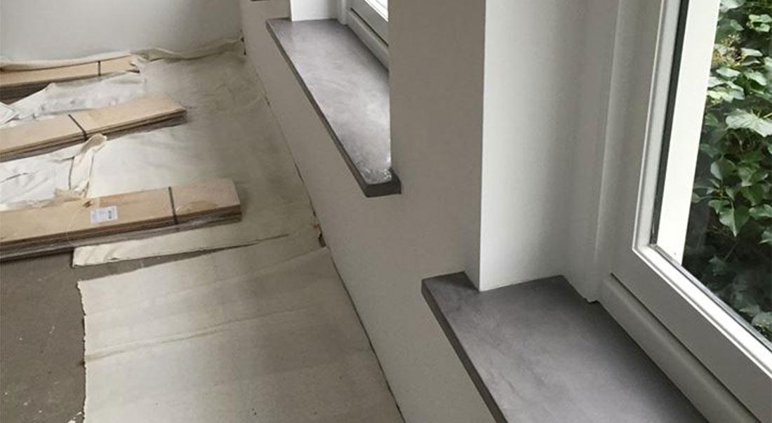 Woonbeton vensterbank – vensterbanken in robuuste betonlook