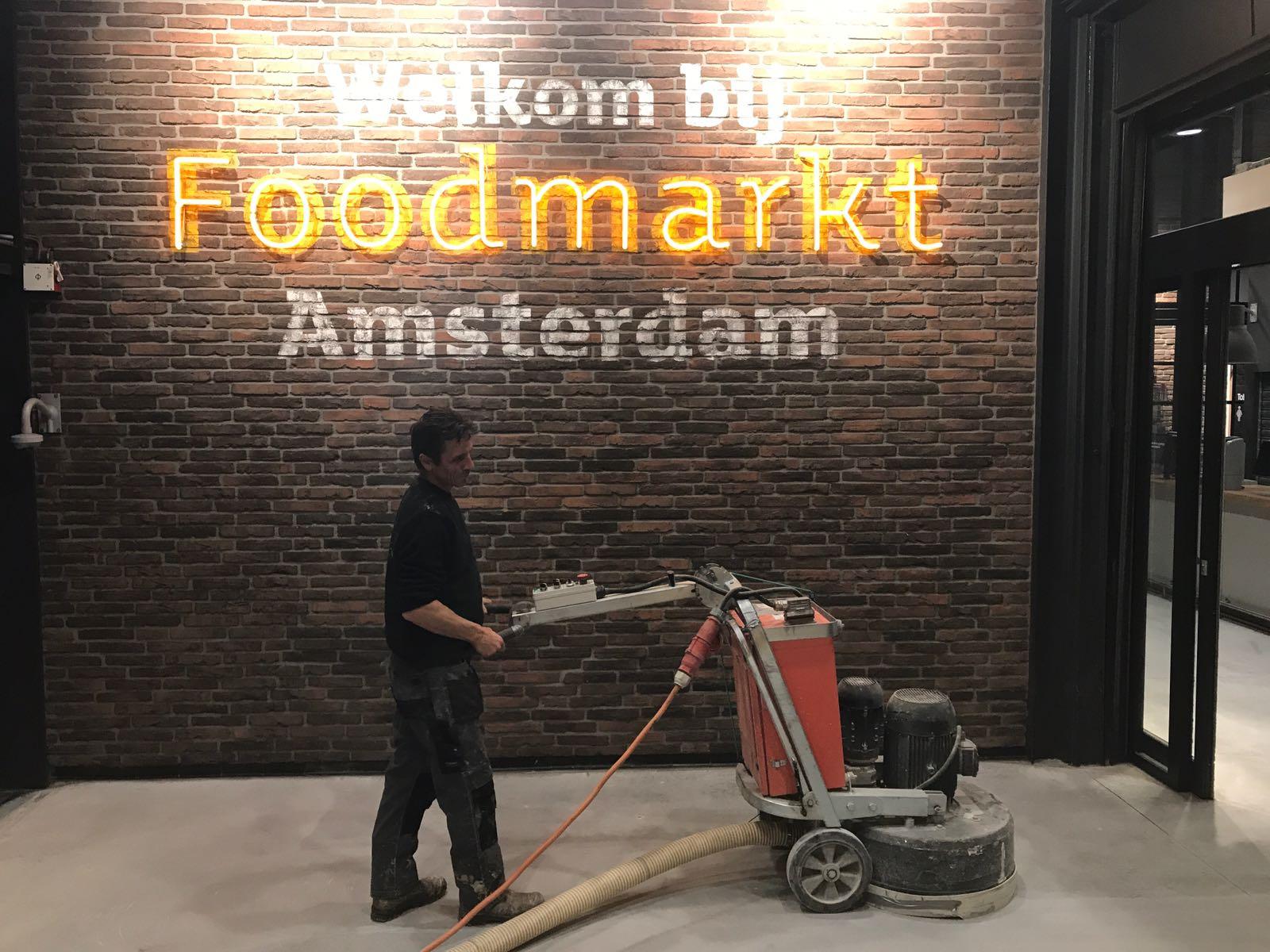 Opgeknapte betonvloer Amsterdam