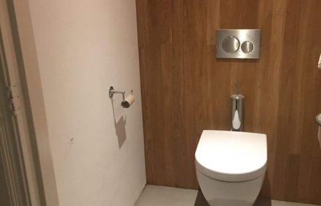 Microcement in toilet