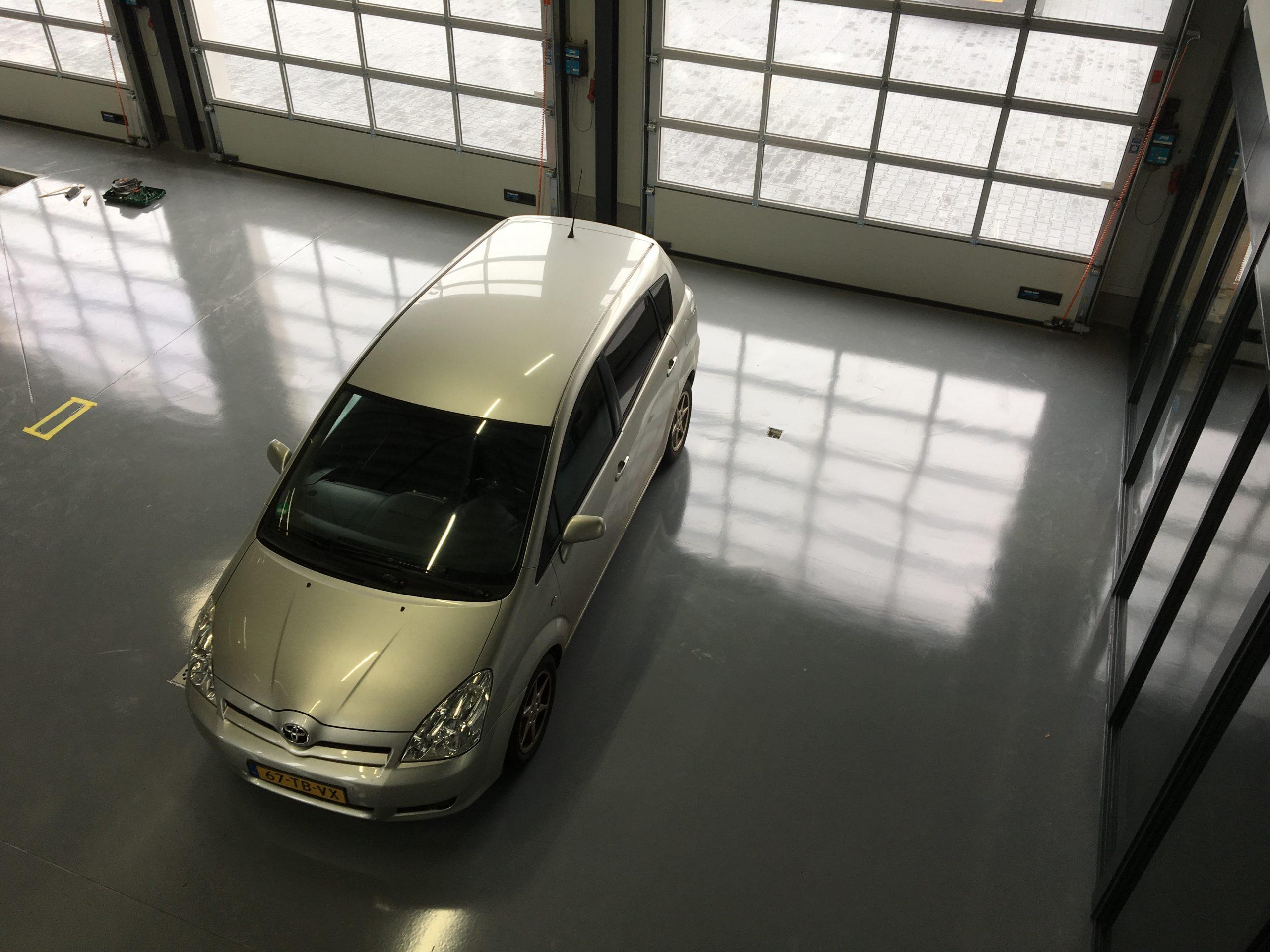 coatingvloer garagebedrijf