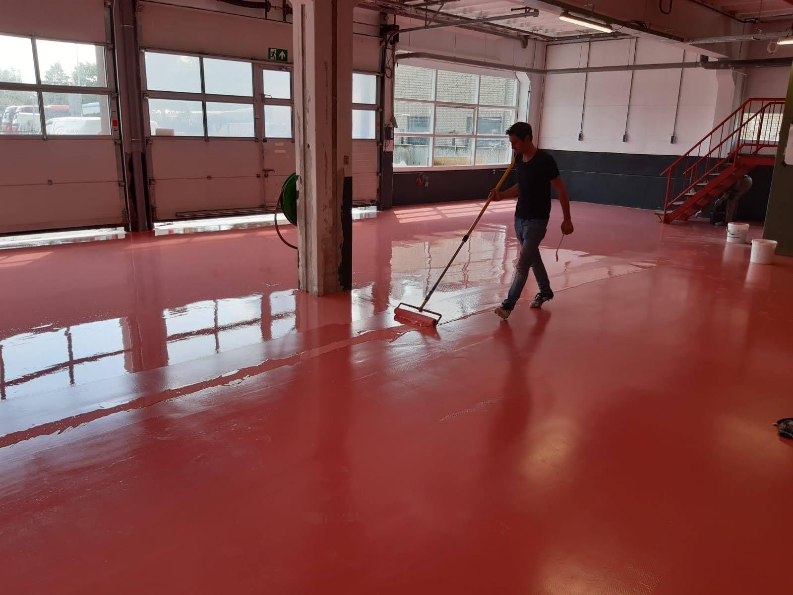 epoxy rolcoating en PMMA-vloer