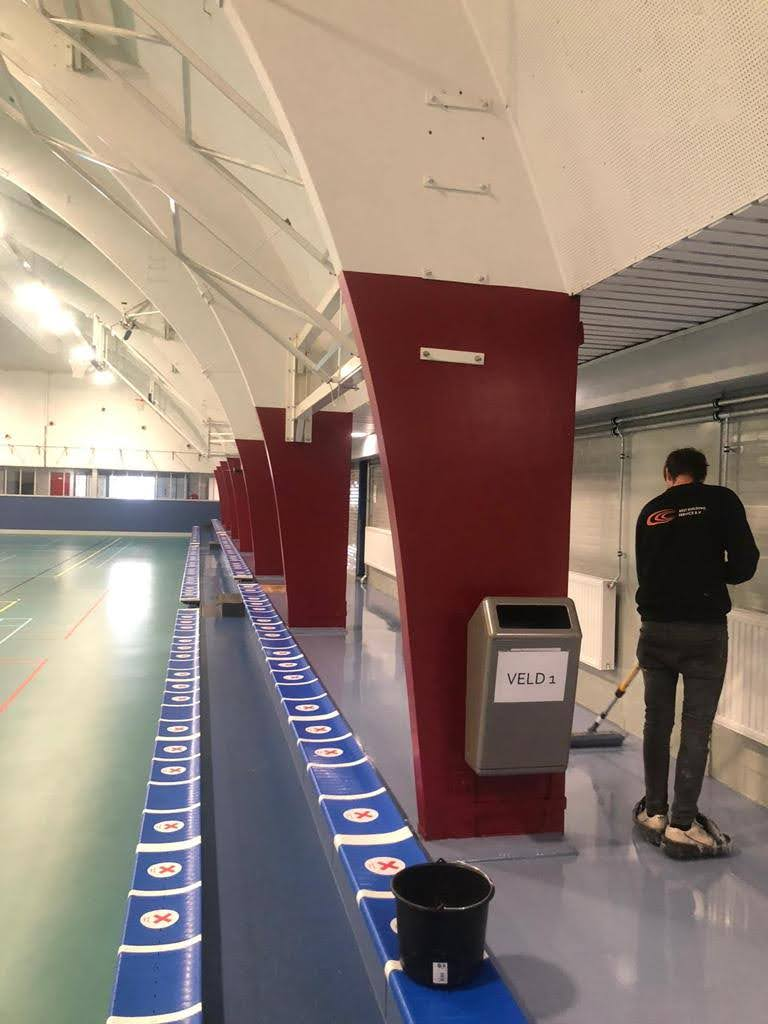 Sportcomplex vloer