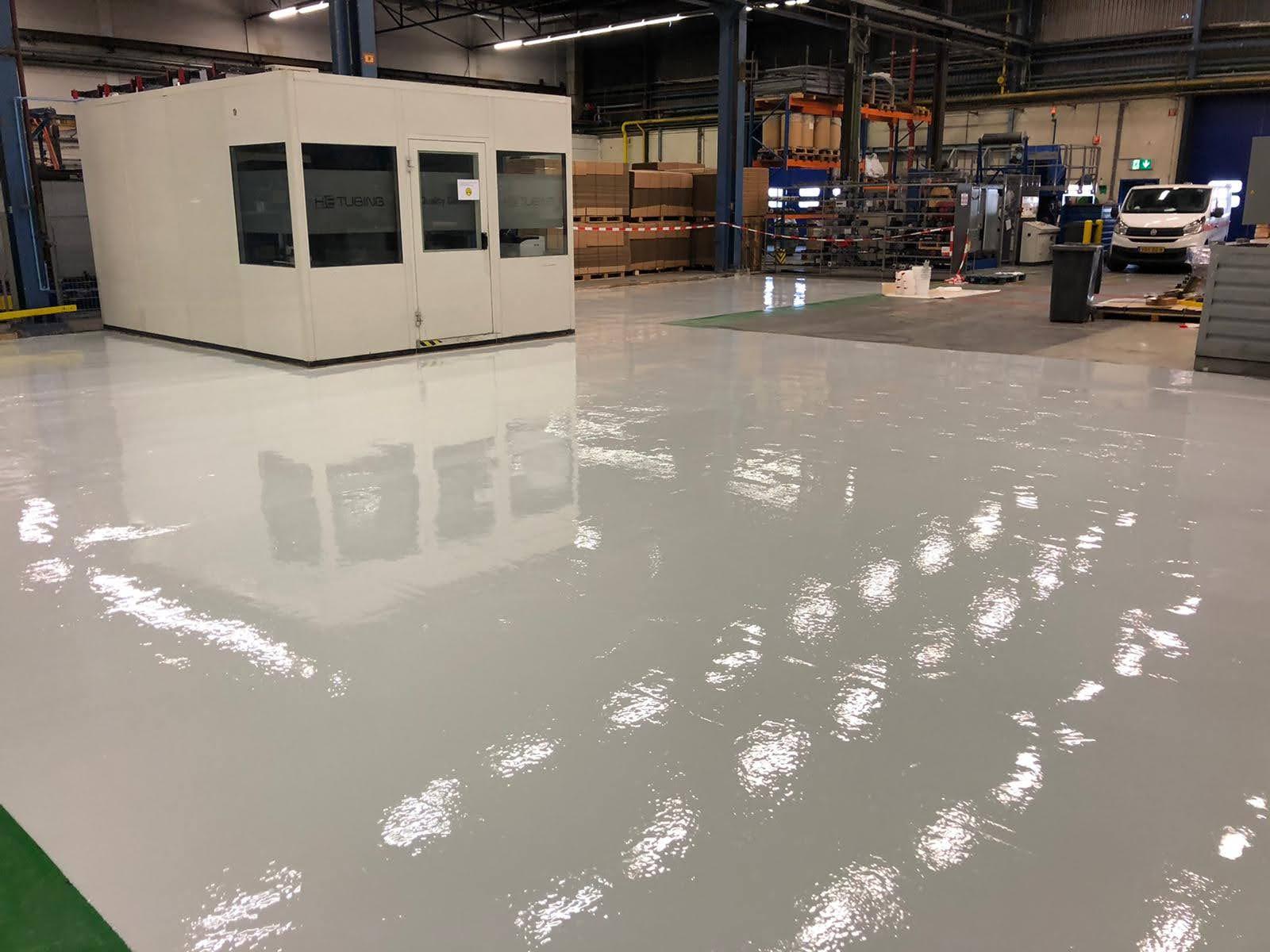 industriële coatingvloer